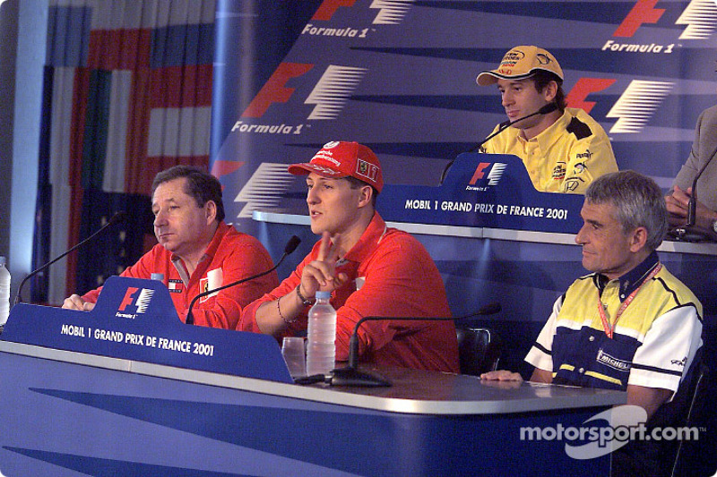 Thursday FIA press conference: Michael Schumacher, Jarno Trulli, Pierre Dupasquier, Enrique Scalabroni and Jean Todt
