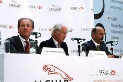 Jaguar et HSBC renouvellent leur partenariat : Dr Wolfgang Reitzle, Sir John Bond et Bobby Rahal