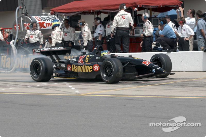 Cristiano da Matta leaving the pit