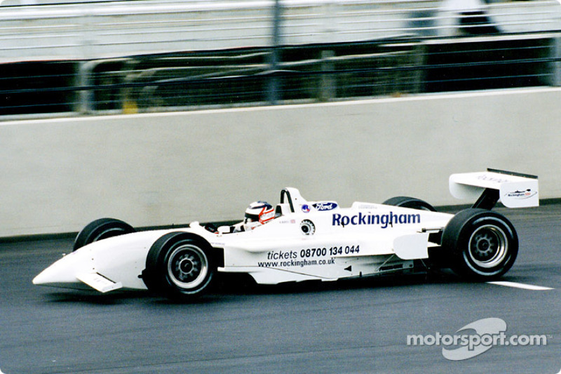 Nigel Mansell on track