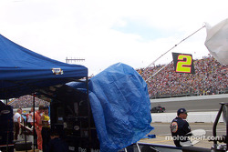 Getting ready for the race at Penske Racing