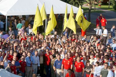 Fête de titre chez Ferrari