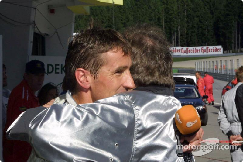 Bernd Schneider celebrating