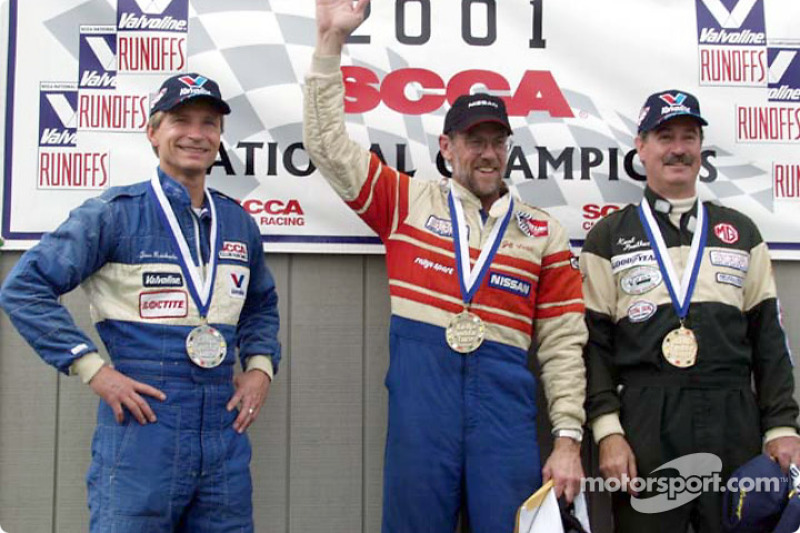 Race 2, G Production podium: 2001 National Champion Jeff Winter, 2nd Thomas Reichenbach and 3rd Kent Prather