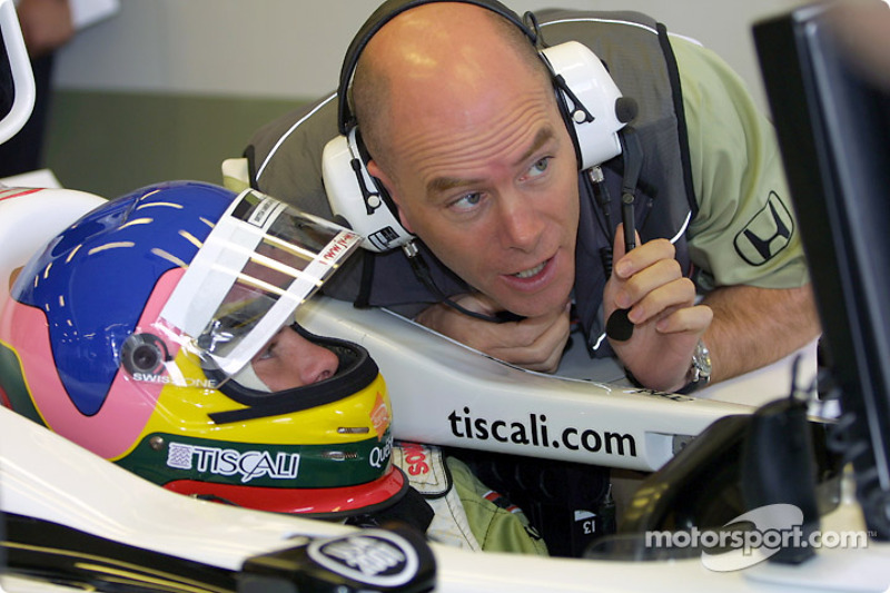 Jacques Villeneuve and Jock Clear