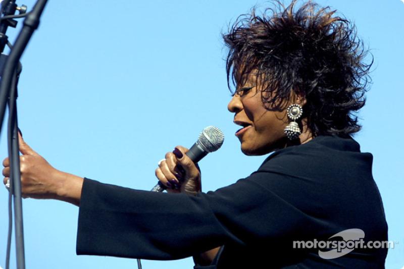 Pre-race ceremonies: Soul Queen Patti Labelle performing 'God Bless America'