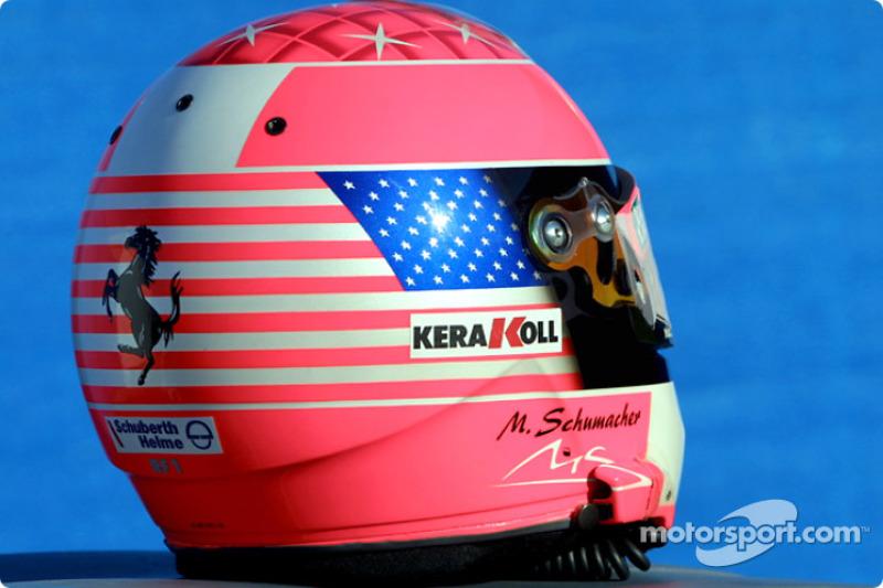 Casco especial para Michael Schumacher para el Gran Premio de Estados Unidos
