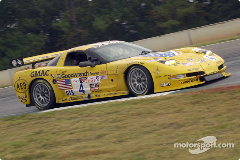 The Chevrolet Corvette C5-R earned 32 wins on North American soil for Corvette Racing. This is the 2001 Petit Le Mans triumph at Road Atlanta.