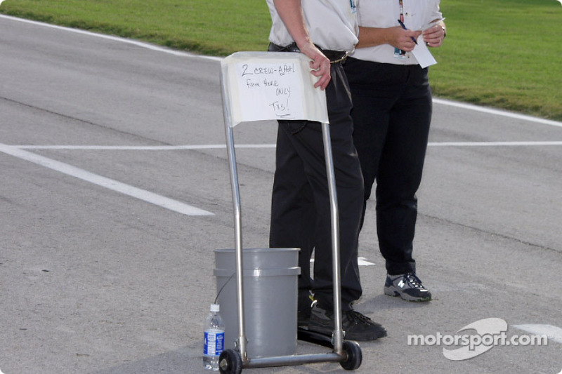High tech NASCAR on pit road