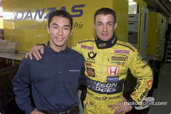 Takuma Sato and Jean Alesi