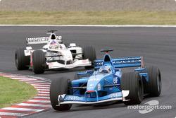 Giancarlo Fisichella and Jacques Villeneuve