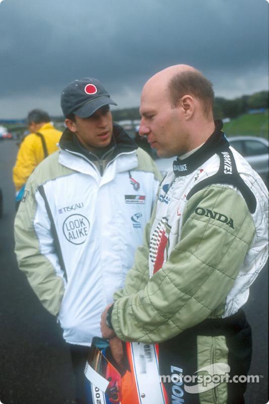 Olivier Panis and David Lloyd