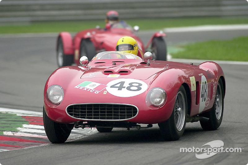 Nicolas Zapata in the 1956 Ferrari 625 TR