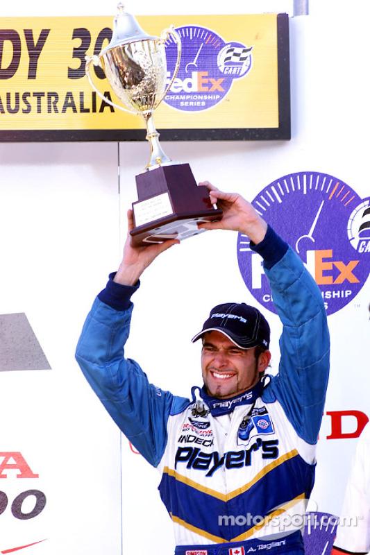 Alex Tagliani on the podium