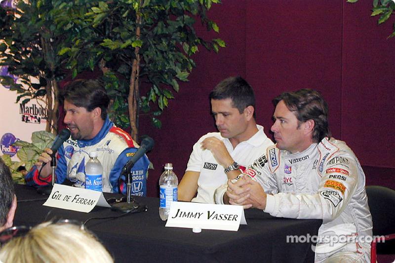 Press conference: Michael Andretti, Gil de Ferran and Jimmy Vasser