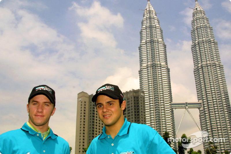 Nick Heidfeld and Felipe Massa