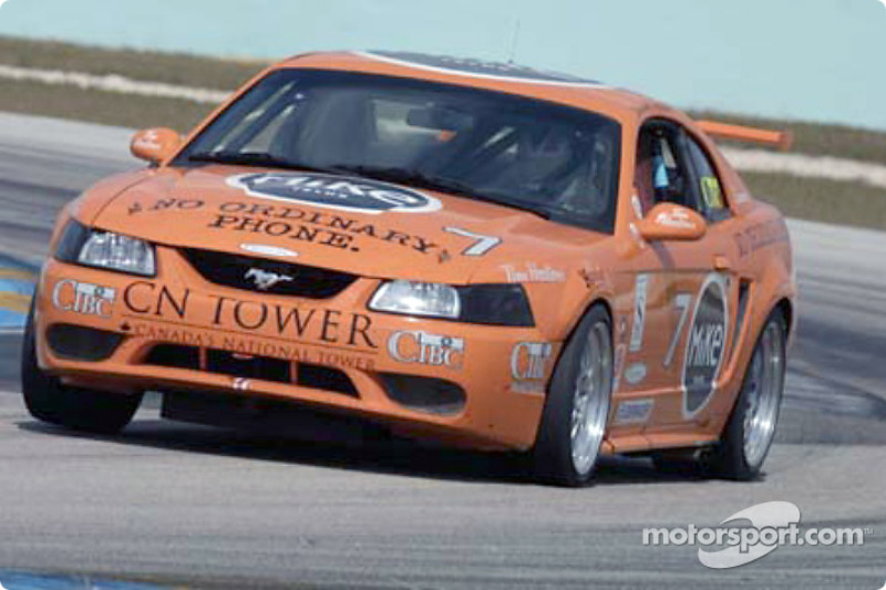 The Doncaster Racing Mustang Cobra takes a curve