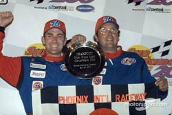 Ian James and Dino Steiner celebrate their first win