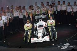 Jacques Villeneuve y Olivier Panis con el Equipo BAR