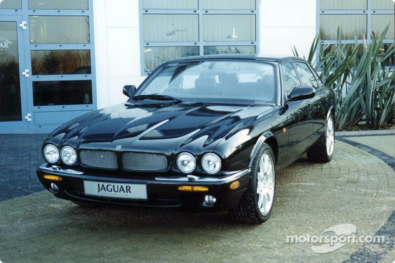 Jaguar road car outside