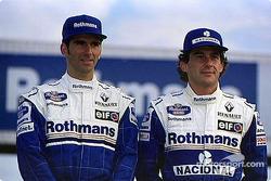 Damon Hill und Ayrton Senna