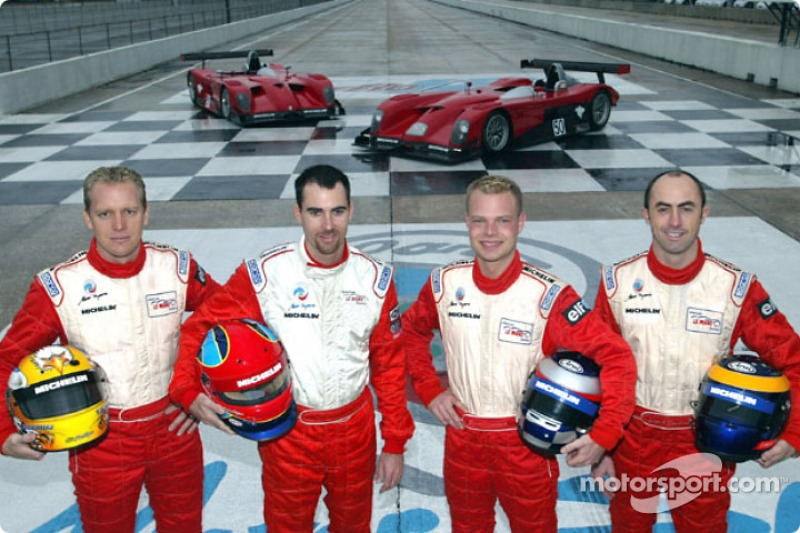 Terry Borcheller, Bryan Herta, Jan Magnussen et David Brabham