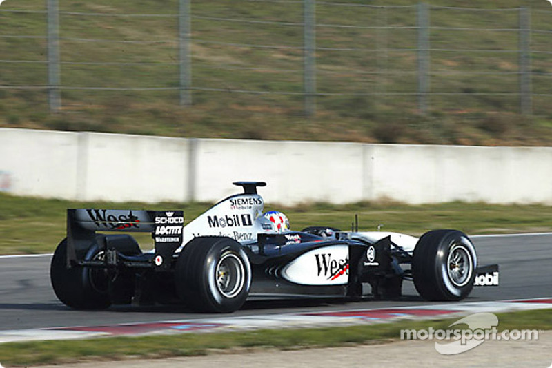 Alexander Wurz testing the new West McLaren Mercedes MP4-17 for the first time