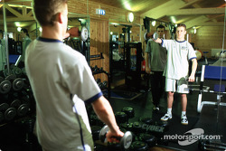 Young drivers in the gym