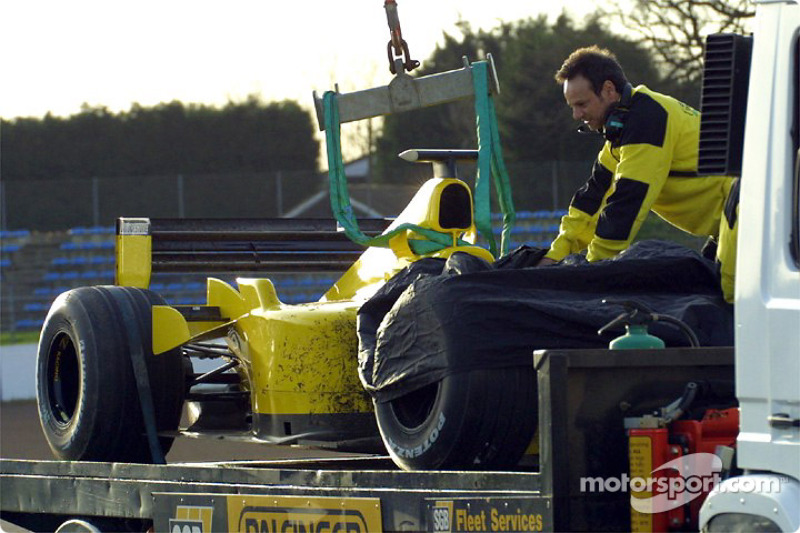 The Jordan after an off-track excursion by Giancarlo Fisichella