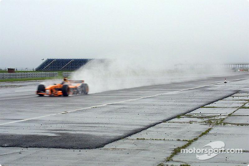 Heinz-Harald Frentzen sous la pluie