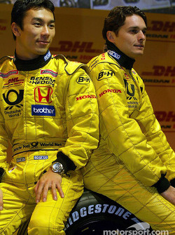 Takuma Sato y Giancarlo Fisichella