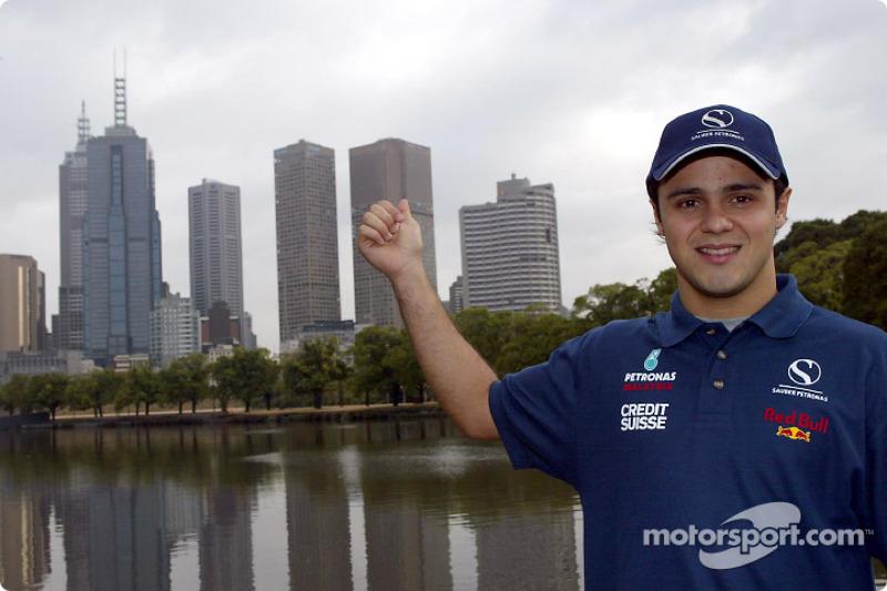Felipe Massa and downtown Melbourne