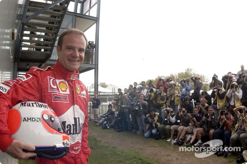Photo shoot for Rubens Barrichello