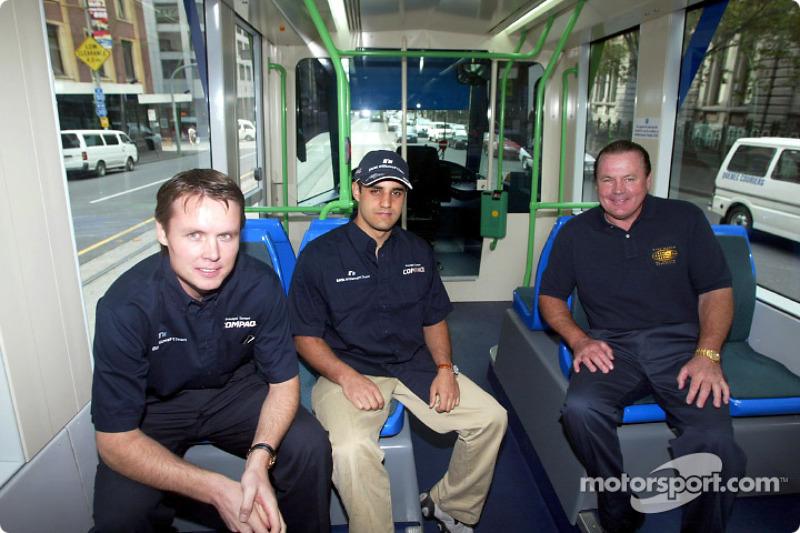 Journée Compaq : Sam Michael, Juan Pablo Montoya et Alan Jones