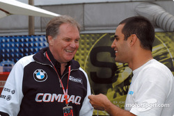 Patrick Head and Juan Pablo Montoya