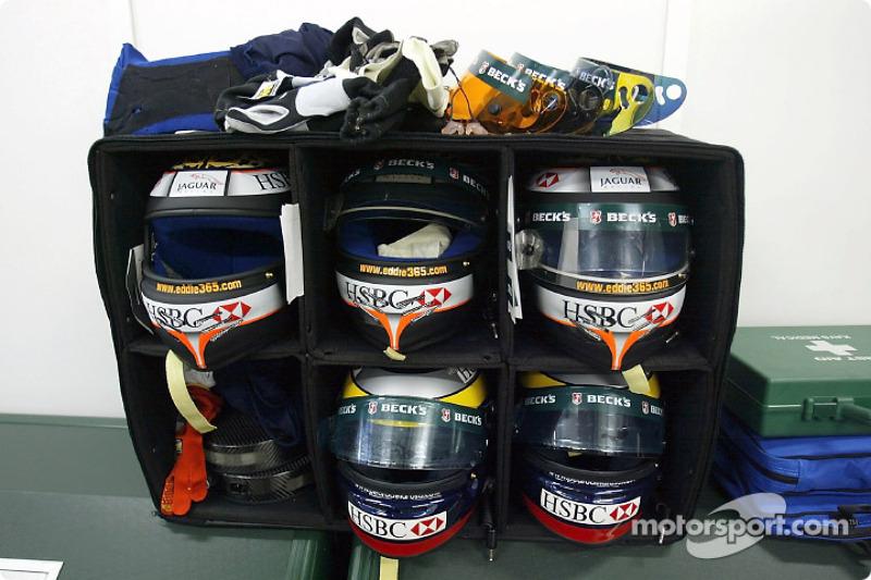 Jaguar drivers racing equipment