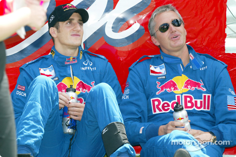 Tomas Scheckter and Eddie Cheever, before the race