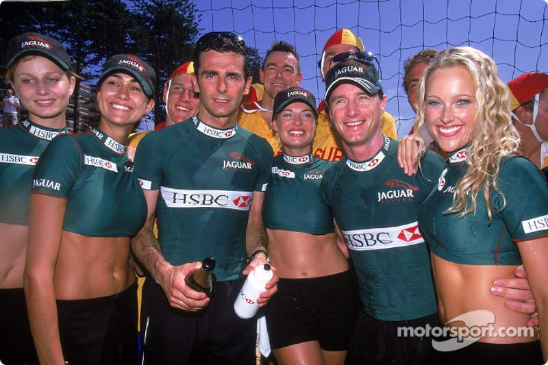 Pedro de la Rosa and Eddie Irvine in charming company