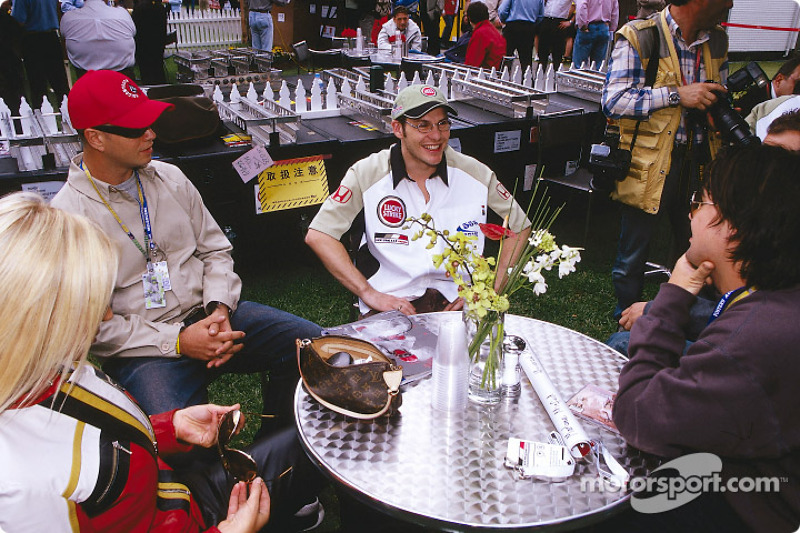 Jacques Villeneuve having fun