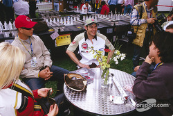 Jacques Villeneuve having fun