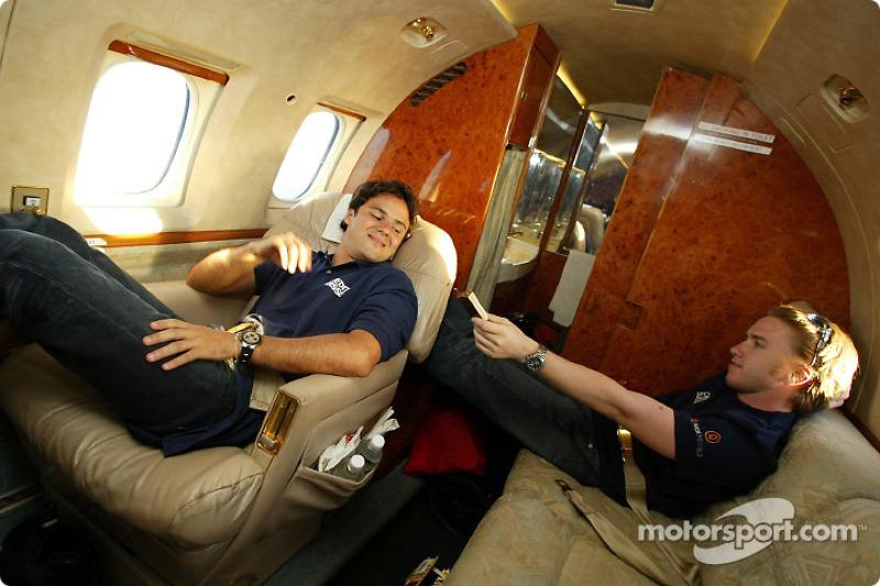 Visit to Singapore: Felipe Massa and Nick Heidfeld