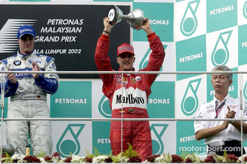 Ralf et Michael Schumacher sur le podium