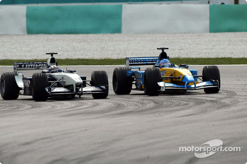 Juan Pablo Montoya and Jenson Button
