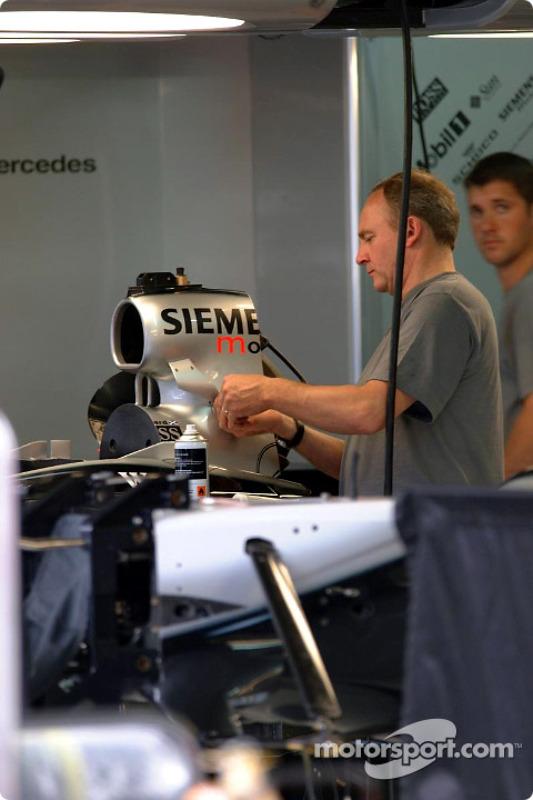 Área de garage del Equipo McLaren