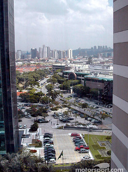 A view from our lovely hotel in Morumbi