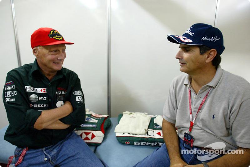 Niki Lauda and Nelson Piquet