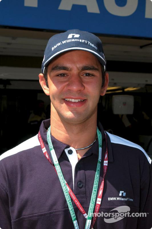 El piloto de pruebas de BMW WilliamsF1, Antonio Pizzonia