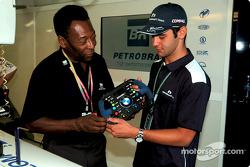 Pelé et Antonio Pizzonia