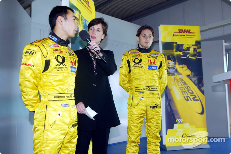 Evento promocional del Equipo Jordan: Takuma Sato y Giancarlo Fisichella