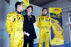 Team Jordan promotional event: Takuma Sato and Giancarlo Fisichella